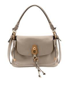 Chloe Gray Owen Medium Flap-Top Bag