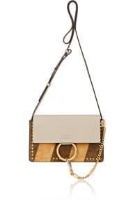Chloe Gray/Olive/Mustard Patchwork Faye Small Shoulder Bag