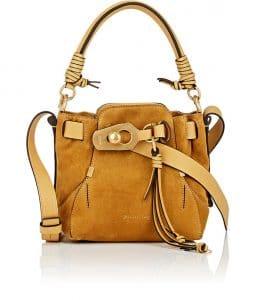 Chloe Mustard Suede Owen Small Bucket Bag