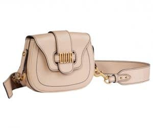 Dior Beige D-Fence Saddle Bag