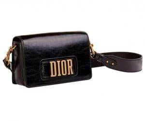 Dior Black Dior Flap Bag with Slot Handclasp
