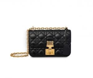 Dior Black Dioraddict Small Flap Bag