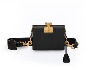 Dior Black Dioraddict Small Lockbox Bag