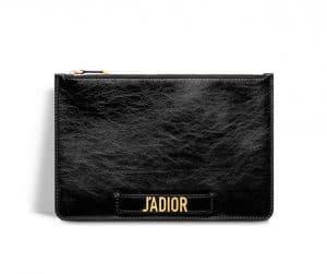 Dior Black J'adior Flat Clutch Bag