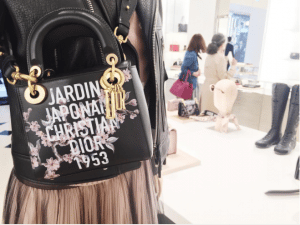 Dior Black Jardin Japonais Lady Dior Bag 2