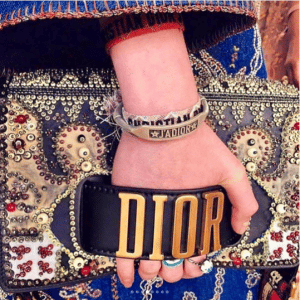 Dior Black Multicolor Beaded Dior Flap Bag - Cruise 2018