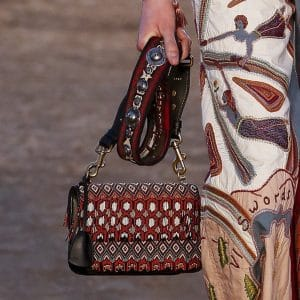 Dior Black Multicolor Beaded Flap Bag - Cruise 2018