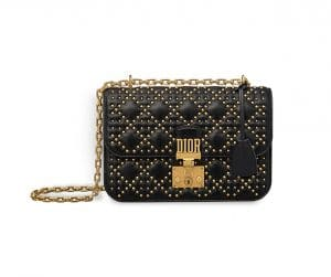 Dior Black Studded Dioraddict Flap Bag