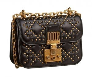 Dior Black Studded Dioraddict Mini Flap Bag