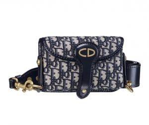 Dior Blue Dior Oblique Mini Saddle Bag