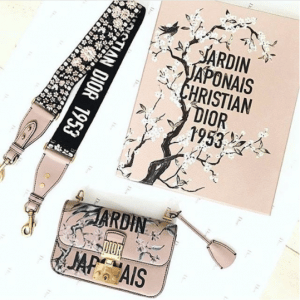 Dior Pink Jardin Japonais Flap Bag