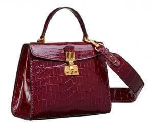 Dior Red Crocodile Dioraddict Top Handle Bag