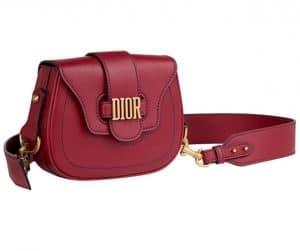 Dior Red D-Fence Saddle Bag
