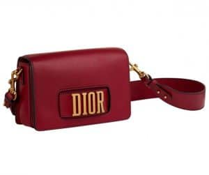 Dior Red Dior Flap Bag with Slot Handclasp