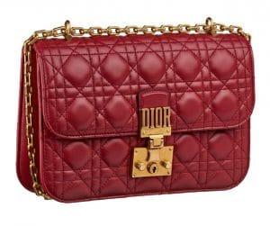 Dior Red Dioraddict Flap Bag
