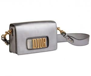Dior Silver Dior Flap Bag with Slot Handclasp