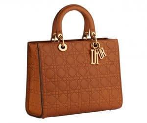 Dior Tan Large Lady Dior Bag
