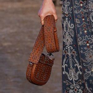 Dior Tan Studded Saddle Bag - Cruise 2018