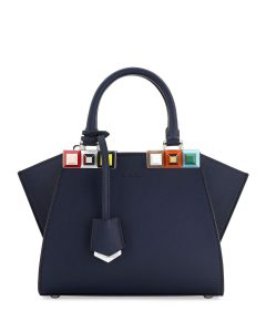 Fendi Blue Studded 3Jours Petite Bag