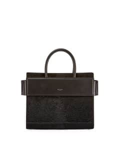 Givenchy Black Astrakhan Embossed Small Horizon Bag