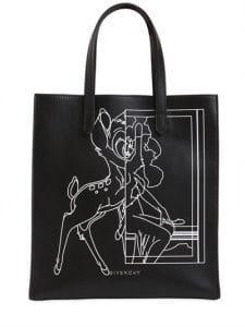 Givenchy Black Bambi Printed Stargate Tote Bag
