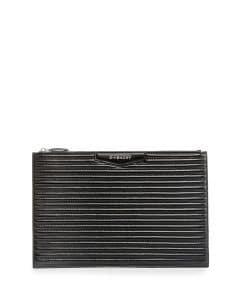 Givenchy Black Biker-Stitched Large Antigona Pouch Bag