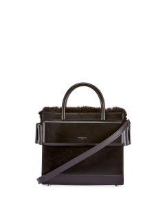 Givenchy Black Fur Trimmed Mini Horizon Bag