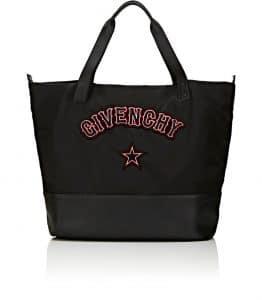 Givenchy Black Gothic Logo Patches Large Shopping Bag
