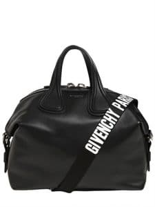 Givenchy Black Logo Strap Medium Nightingale Bag