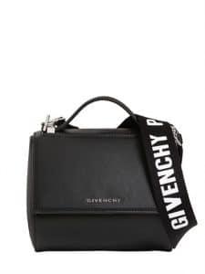 Givenchy Black Mini Pandora Box Bag with Strap