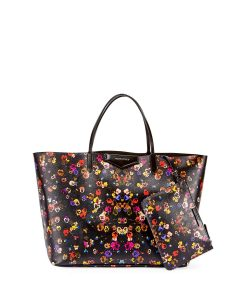 Givenchy Black Multicolor Pansies Print Large Antigona Tote Bag