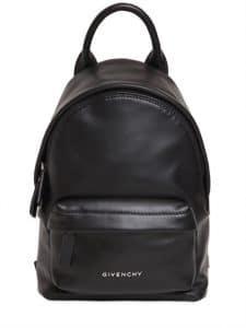 Givenchy Black Smooth Leather Nano Backpack Bag