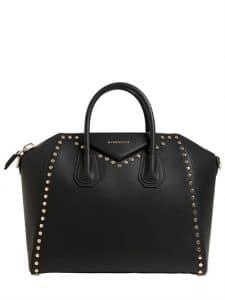 Givenchy Black Studded Medium Antigona Bag