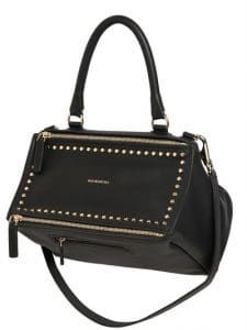Givenchy Black Studded Medium Pandora Bag