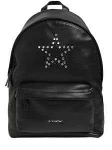 Givenchy Black Studded Star Small Backpack Bag