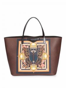 Givenchy Brown Butterfly Print Large Antigona Tote Bag