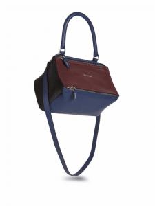 Givenchy Burgundy/Navy/Black Tricolor Small Pandora Bag