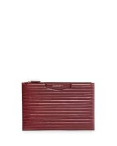 Givenchy Red Biker-Stitched Medium Antigona Pouch Bag