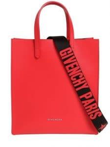 Givenchy Red Logo Strap Small Stargate Bag