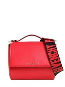 Givenchy Red Mini Pandora Box Bag with Strap