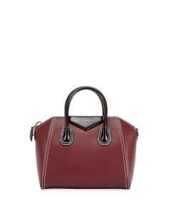 Givenchy Red/Black Bicolor Small Antigona Bag