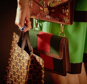 Gucci Brown Logo Tote and Printed:Striped Shoulder Bags - Cruise 2018
