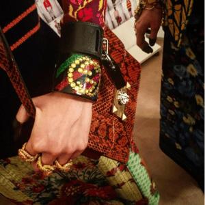 Gucci Brown Python Shoulder Bag - Cruise 2018
