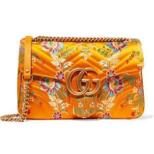 Gucci Floral Jacquard Medium GG Marmont Flap Bag 1