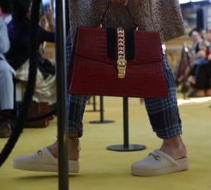 Gucci Red Alligator Sylvie Top Handle Bag - Cruise 2018