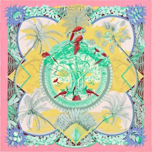 Hermes Aloha Silk Twill Giant Scarf 140