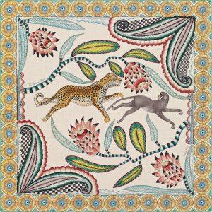 Hermes The Savana Dance Cashmere and Silk Shawl GM