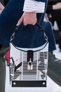 Louis VUitton White/Black Printed Hobo Bag - Cruise 2018