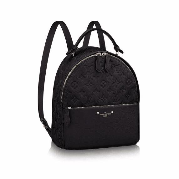 Louis Vuitton Black Monogram Empreinte Sorbonne Backpack Bag