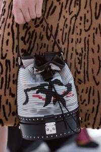 Louis Vuitton Black/White Bucket Bag - Cruise 2018